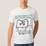 Dentista divertido e higienista dental camisas