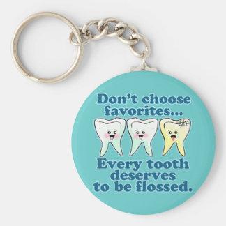 Dentista divertido llavero redondo tipo pin