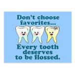 Dentista divertido postales