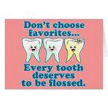 Dentista divertido tarjeta