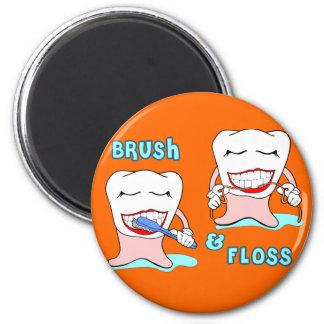 Dentista e higienista dental imán redondo 5 cm