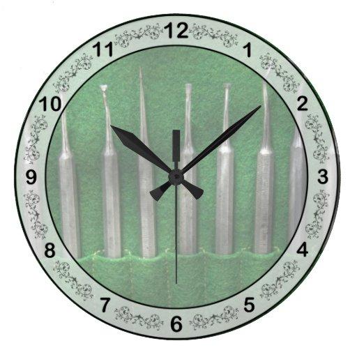 Dentista - el equipo reloj de pared