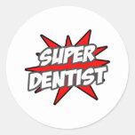 Dentista estupendo pegatina redonda