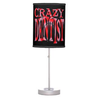 Dentista loco en rojo lámpara de mesilla de noche
