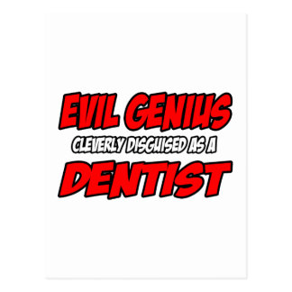 Dentista malvado del genio… tarjeta postal