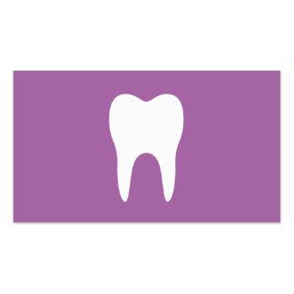Dentista minimalista púrpura del ciruelo blanco tarjetas de visita