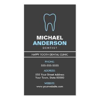 Dentista o ayudante de dentista, moderno, azul y tarjetas de visita
