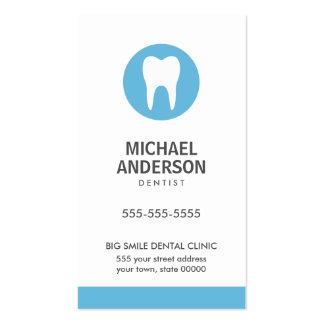 Dentista o clínica dental/azul moderno auxiliar tarjetas de visita
