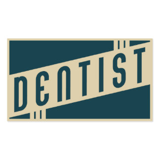 dentista retro tarjetas de visita