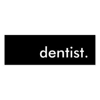 dentista plantilla de tarjeta de visita