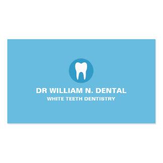Dentista tarjeta de visita azul dental con el log