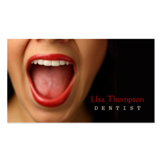 Dentista tarjeta de visita dental