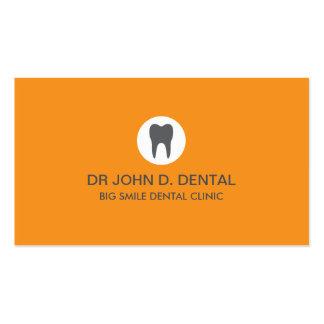 Dentista tarjeta de visita gris dental con el log