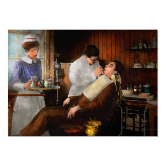 """Dentista - una decisión incisiva - 1917 invitación 5"""" x 7"""""""