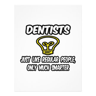 """Dentistas… como la gente regular, solamente más folleto 8.5"""" x 11"""""""