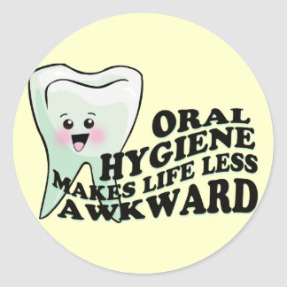 Dentistas divertidos y Prosthodontists Etiqueta Redonda