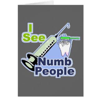 Dentistas e higienistas divertidos tarjetas