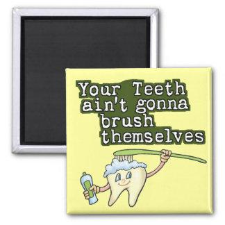 Dentistas e higienistas imán cuadrado