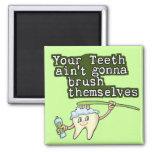 Dentistas e higienistas imanes para frigoríficos