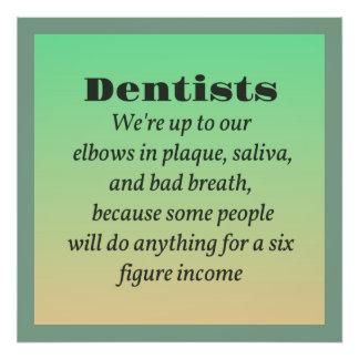 Dentistas y materia gruesa fotografías