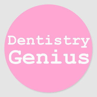 Dentistry Genius Gifts Classic Round Sticker