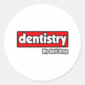 Dentistry...My Anti-Drug Classic Round Sticker