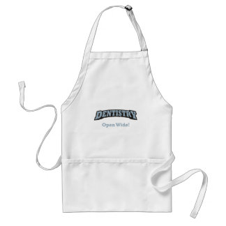 Dentistry / Open Wide Adult Apron