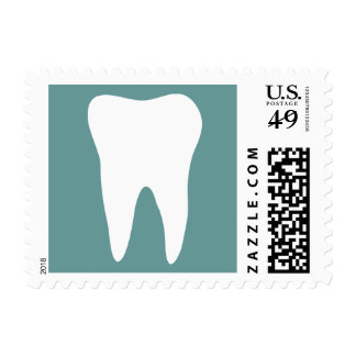 Dentistry postage stamps with tooth logo