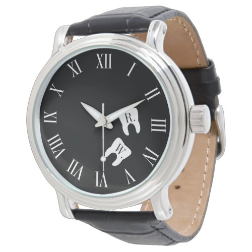Dentistry Professional Custom Molar Initials Wrist Watch