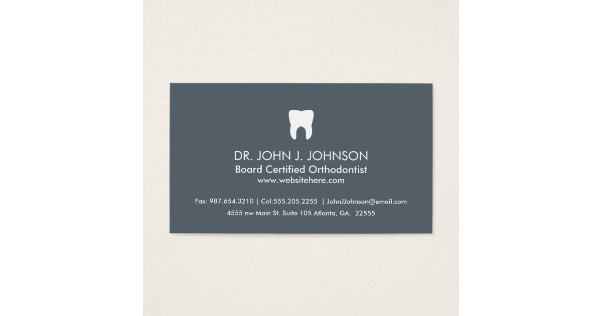 Charming slate business card gallery business card ideas dentistry professional slate grey business card zazzle reheart Image collections