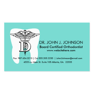 Dentistry Symbol Custom Business Card