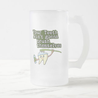 Dentists and Hygienists Frosted Glass Beer Mug