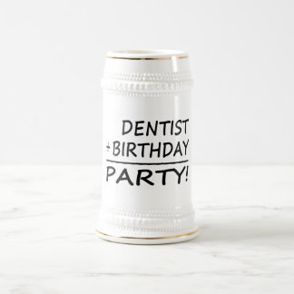 Dentists Birthdays : Dentist + Birthday = Party 18 Oz Beer Stein