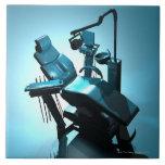 Dentist's chair, computer artwork. tile