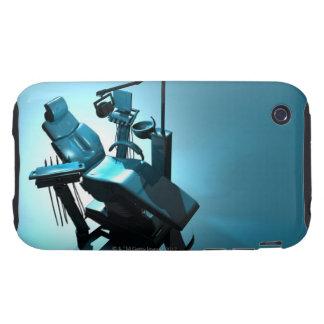 Dentist's chair, computer artwork. tough iPhone 3 case