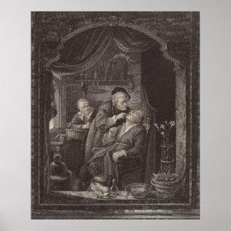 Dentist's Examination, Baroque Era, Gerrit Dou Poster