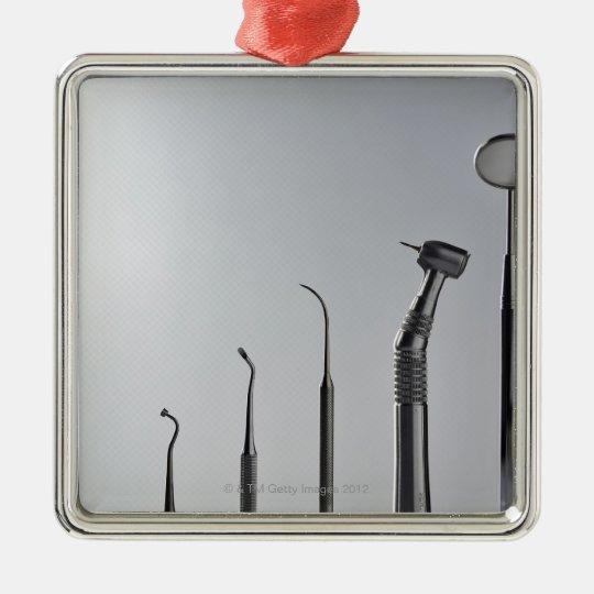 Dentist's instruments metal ornament
