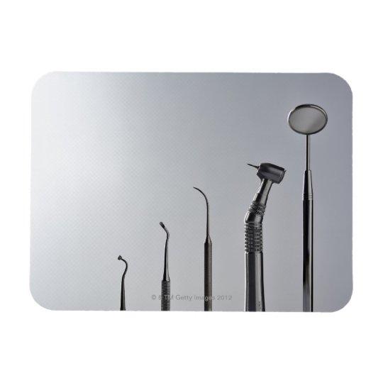 Dentist's instruments rectangular photo magnet