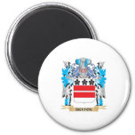 Denton Coat of Arms - Family Crest 2 Inch Round Magnet
