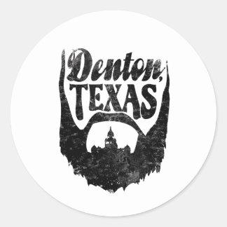 Denton, pegatina de la barba de TX