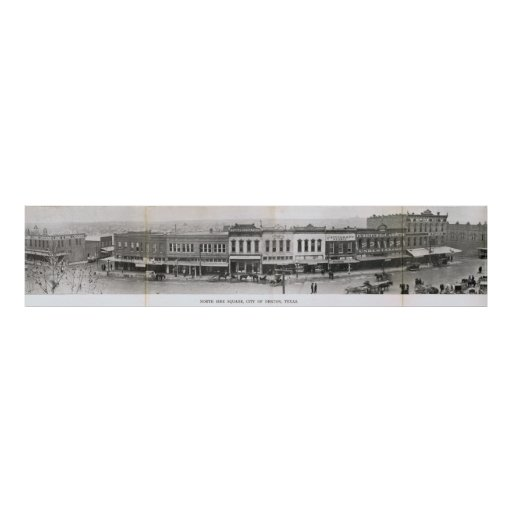 Denton, Tejas - lado norte del cuadrado 1900's tem Póster