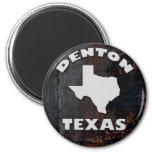 DENTON, TEXAS 2 INCH ROUND MAGNET