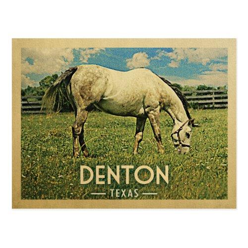 Denton Texas Postcards - Vintage Horse Farm
