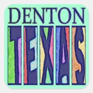 Denton, Texas Square Sticker