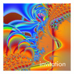 Dentro · Arte del fractal · Azul y naranja Anuncio Personalizado