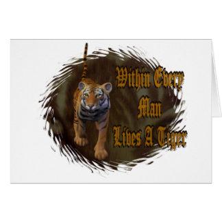 Dentro de cada hombre vive un tigre tarjeta pequeña