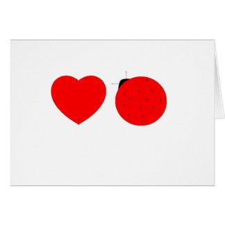 dentro de: ¡el día de San Valentín feliz, lovebug! Tarjeta De Felicitación