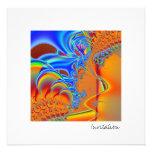 Dentro de I · Arte del fractal · Azul y naranja Invitación