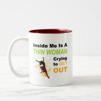 Dentro de mí es la mujer fina que llora para salir taza