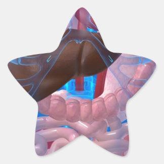 Dentro de mí pegatina en forma de estrella
